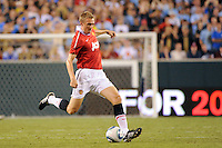 Darren Fletcher (24) of Manchester United. Manchester United (EPL) defeated the Philadelphia Union (MLS) 1-0 during an international friendly at Lincoln Financial Field in Philadelphia, PA, on July 21, 2010.