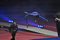 Photo: Tony Oudot/Richard Lane Photography. Aviva Grand Prix. 20/02/2010. .High Jumper in the Extreme High Jump.