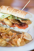 Catfish Po' Boy at Plates in Raleigh , N.C. on Thursday, March 20, 2014. (Justin Cook)