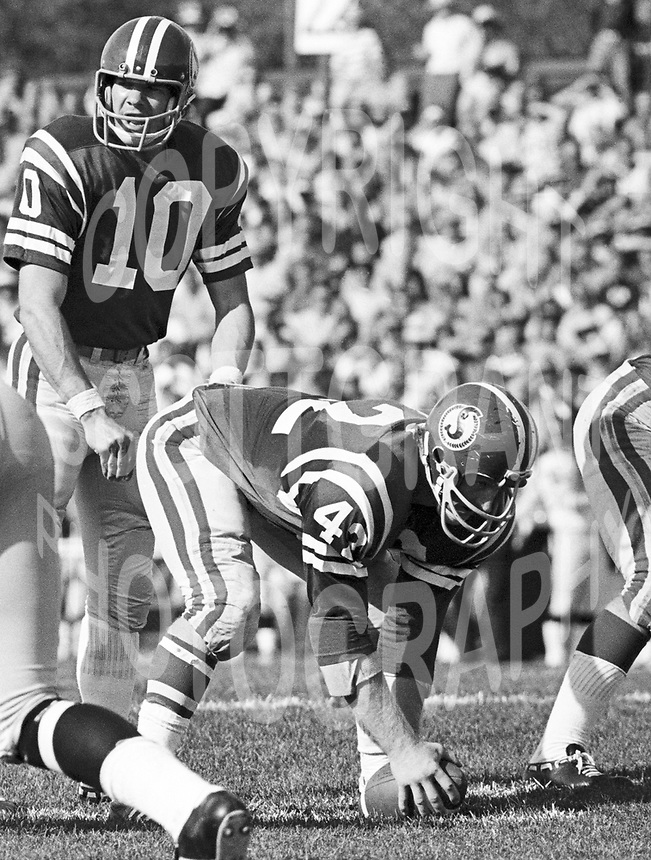 Bubba Wyche Saskatchewan Roughriders quarterback 1971. Copyright photograph Scott Grant/