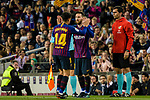Philippe Coutinho of FC Barcelona (L) and Lionel Messi of FC Barcelona (R) during the La Liga match between Barcelona and Real Sociedad at Camp Nou on May 20, 2018 in Barcelona, Spain. Photo by Vicens Gimenez / Power Sport Images