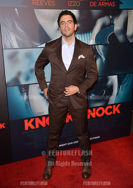 Director Eli Roth at the Los Angeles premiere of his movie &quot;Knock Knock&quot; at the TCL Chinese Theatre, Hollywood.<br /> October 7, 2015  Los Angeles, CA<br /> Picture: Paul Smith / Featureflash
