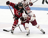 Hayley Scamurra (NU - 14), Makenna Newkirk (BC - 19) -  The Boston College Eagles defeated the Northeastern University Huskies 2-1 in overtime to win the 2017 Hockey East championship on Sunday, March 5, 2017, at Walter Brown Arena in Boston, Massachusetts.