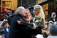 NEW YORK, NY - NOVEMBER 20: Ke$ha and Willie Nelson on NBC's Today Show at Rockefeller Center in New York City. November 20, 2012. Credit: mpi44/MediaPunch Inc. /NortePhoto