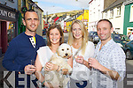 Enjoying Dingle Food festival on Saturday were from left: Derek and Jennifer Pine, Buddy (the dog) Cara Moloney Adrian Hegary, all from Killarney.