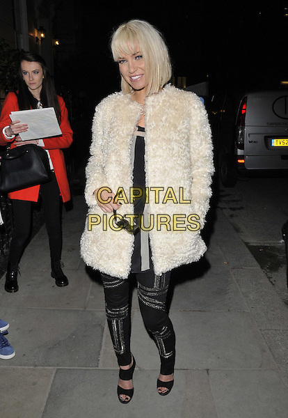 LONDON, ENGLAND - FEBRUARY 26: Sarah Harding attends the HealthB4Beauty collaborative campaign launch press day, Morton's bar &amp; restaurant, Berkeley Square, on Wednesday February 26, 2014 in London, England, UK.<br /> CAP/CAN<br /> &copy;Can Nguyen/Capital Pictures