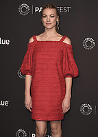 """HOLLYWOOD, CA - MARCH 18:  Yvonne Strahovski at PaleyFest 2018 - """"The Handmaid's Tale"""" at the Dolby Theatre on March 18, 2018 in Hollywood, California. (Photo by Scott KirklandPictureGroup)"""