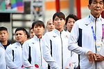 Mayuka Yamamoto (JPN), <br /> AUGUST 16, 2018 : Welcome Ceremony for the Japanese delegation at Athlete's Village during the 2018 Jakarta Palembang Asian Games in Jakarta, Indonesia. (Photo by MATSUO.K/AFLO SPORT)