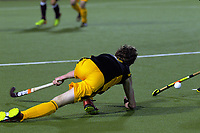 Action from the Wellington premier men's hockey final between Dalefield and Hutt at The National Hockey Stadium, Wellington, New Zealand on Saturday, 12 August 2017. Photo: Dave Lintott / lintottphoto.co.nz