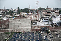 Leathers are spread for drying at a tannery in Jajmau area, Kanpur, Uttar Pradesh, India. Arindam Mukherjee