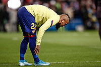1st March 2020; Estadio Santiago Bernabeu, Madrid, Spain; La Liga Football, Real Madrid versus FC Barcelona; Arturo Vidal (FC Barcelona)  Pre-match warm-up