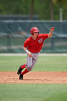 GCL Nationals left fielder Justin Connell (11) running the bases during the second game of a doubleheader against the GCL Marlins on July 23, 2017 at Roger Dean Stadium Complex in Jupiter, Florida.  GCL Nationals defeated the GCL Marlins 1-0.  (Mike Janes/Four Seam Images)