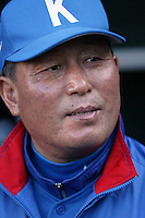 In-Sik Kim of Korea during the World Baseball Championships at Angel Stadium in Anaheim,California on March 15, 2006. Photo by Larry Goren/Four Seam Images