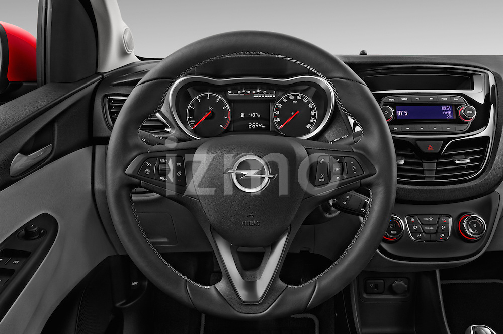Car pictures of steering wheel view of a 2016 Opel Karl Cosmo 5 Door Hatchback Steering Wheel