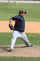 March 8, 2010:  Pitcher Jose Mijares of the Minnesota Twins during a Spring Training game at Ed Smith Stadium in Sarasota, FL.  Photo By Mike Janes/Four Seam Images