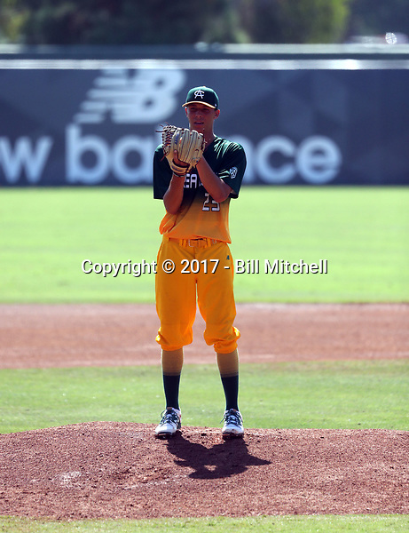 Brett Hansen plays in the 2017 Area Code Games on August 6-10, 2017 at Blair Field in Long Beach, California (Bill Mitchell)