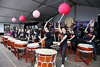 Nederland   Amstelveen   2017 04 08. Cherry Blossom Festival in het Amsterdamse Bos . Het Japanse Sakura (Kersenbloesemfestival) markeert de start van de lente.  Beat of Spirit.  Berlinda van Dam / Hollandse Hoogte