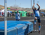 Reed's Michael Spivack competes in the boys high jump during the Reed Sparks Rotary Invitational track and field event at Reed High School in Sparks, Saturday, April 1, 2017.