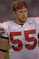 08 October 2005:  Nick Mangold (55)..The Penn State Nittany Lions knocked off the #6 Ohio State Buckeyes 17-10 October 8, 2005 at Beaver Stadium in State College, PA..