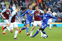 Burnley's Jack Cork vies for possession with Leicester City's Ricardo Pereira<br /> <br /> Photographer Rich Linley/CameraSport<br /> <br /> The Premier League - Burnley v Leicester City - Saturday 16th March 2019 - Turf Moor - Burnley<br /> <br /> World Copyright © 2019 CameraSport. All rights reserved. 43 Linden Ave. Countesthorpe. Leicester. England. LE8 5PG - Tel: +44 (0) 116 277 4147 - admin@camerasport.com - www.camerasport.com