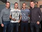 Jason Collier, Alan Kelly, John Collier and Oisin Gartlan at the launch of St. Colmcilles Movember challenge in The LimeKiln Julianstown. Photo:Colin Bell/pressphotos.ie