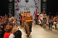 BUENOS AIRES, ARGENTINA, 01 MARÇO 2013 - BUENOS AIRES FASHION WEEK - Desfile da grife Semillero UBA no quarto dia de desfiles da Buenos Aires Fashion Week, no La Rural, em Buenos Aires, Argentina, neste sexta-feira, 01.  (FOTO: PATRICIO MURPHY / BRAZIL PHOTO PRESS).