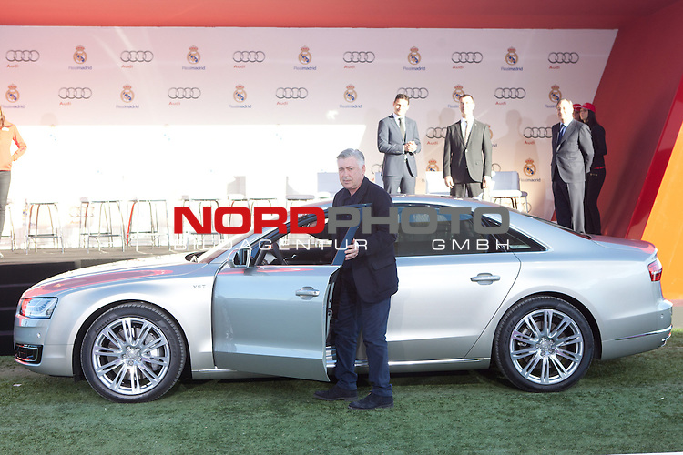 Carlo Ancelotti participates and receives new Audi during the presentation of Real Madrid's new cars made by Audi at  Hipodromo de la Zarzuela in Madrid. November 28, 2013. Foto © nph / Caro Marin)