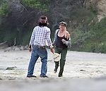 June 12th 2010  Exclusive..Daryl Hannah hugging and kissing her hippie boyfriend on the beach in Malibu California. The couple also played a game of racquetball on the beach. ....AbilityFilms@yahoo.com.805-427-3519.www.AbilityFilms.com