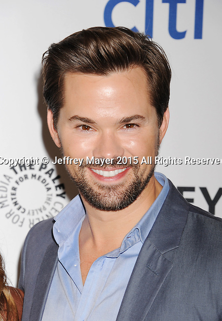 HOLLYWOOD, CA - MARCH 08: Actor Andrew Rannells attends The Paley Center For Media's 32nd Annual PALEYFEST LA - 'Girls' at Dolby Theatre on March 8, 2015 in Hollywood, California.