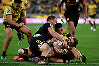 Hurricanes&rsquo; TJ Perenara in action during the Super Rugby - Hurricanes v Chiefs at Westpac Stadium, Wellington, New Zealand on Saturday  27 April 2019. <br /> Photo by Masanori Udagawa. <br /> www.photowellington.photoshelter.com