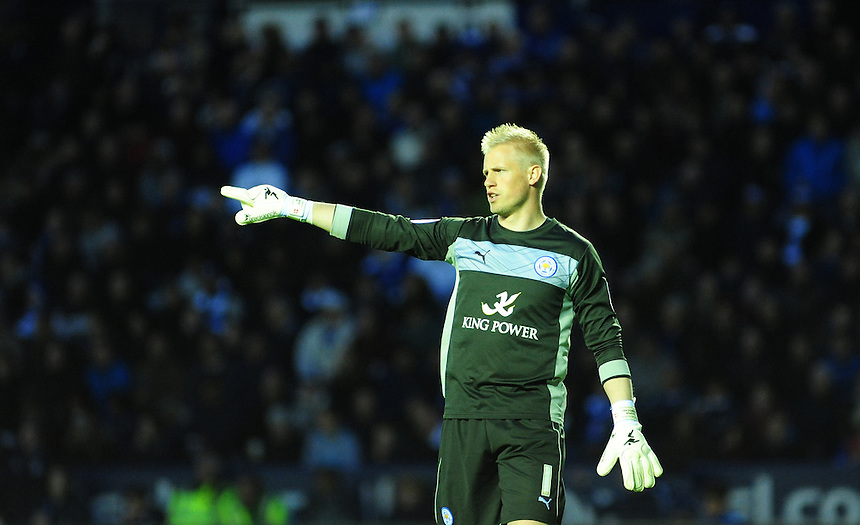 Leicester City's Kasper Schmeichel .. - (Photo by Chris Vaughan/CameraSport) - ..Football - npower Football League Championship Play-Offs Semi-Final First Leg - Leicester City v Watford - Thursday 9th May 2013 - King Power Stadium - Leicester..© CameraSport - 43 Linden Ave. Countesthorpe. Leicester. England. LE8 5PG - Tel: +44 (0) 116 277 4147 - admin@camerasport.com - www.camerasport.com