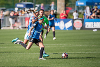 Kansas City, MO - Sunday May 07, 2017: Dani Weatherholt, Shea Groom during a regular season National Women's Soccer League (NWSL) match between FC Kansas City and the Orlando Pride at Children's Mercy Victory Field.
