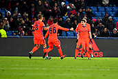 31st October 2017, St Jakob-Park, Basel, Switzerland; UEFA Champions League, FC Basel versus CSKA Moscow; Alan Dzagoev of CSKA Moscow celebrates his goal to make it 1-1 after 65 minutes with teammates Pontus Wernbloom and Bibras Natkho