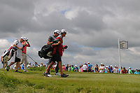 Rafael Cabrera Bello (ESP) departs the 7th tee during Saturday's round 3 of the 117th U.S. Open, at Erin Hills, Erin, Wisconsin. 6/17/2017.<br /> Picture: Golffile | Ken Murray<br /> <br /> <br /> All photo usage must carry mandatory copyright credit (&copy; Golffile | Ken Murray)