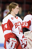 Shannon Mahoney (BU - 14) - The Boston University Terriers defeated the Providence College Friars 5-3 on Saturday, November 14, 2009, at Agganis Arena in Boston, Massachusetts.