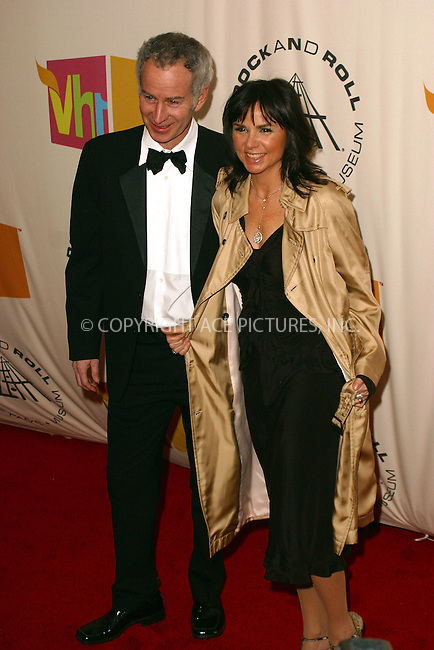 WWW.ACEPIXS.COM . . . . . ....NEW YORK, MARCH 14, 2005....John McEnroe and Patti Smythe at the 20th Annual Rock And Roll Hall Of Fame Induction Ceremony at the Waldorf Astoria Hotel.....Please byline: PAUL CUNNINGHAM - ACE PICTURES.. . . . . . ..Ace Pictures, Inc:  ..Philip Vaughan (646) 769-0430..e-mail: info@acepixs.com..web: http://www.acepixs.com