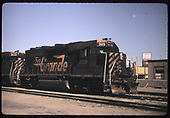 3/4 right front view of D&amp;RGW GP40-2 #3119 coupled to D&amp;RGW GP40-2 #3133 (ex. Conrail #3117).<br /> D&amp;RGW  Alamosa, CO  Taken by Berkstresser, George