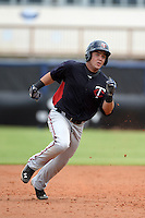 Minnesota Twins shortstop Rafael Valera (52) during an Instructional League game against the Tampa Bay Rays on September 16, 2014 at Charlotte Sports Park in Port Charlotte, Florida.  (Mike Janes/Four Seam Images)