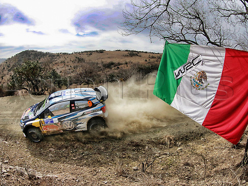 03.03.2016. Leon, Mexico. WRC rally of Mexico. Shakedown and SS1 and SS2.  Andreas Mikkelsen (NOR) and Jaeger Synnevag (NOR)-Volkswagen Polo WRC