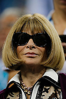 American Vogue Editor Anna Wintour watches the game between Gael Monfils of France and Roger Federer of Switzerland during their quarter-final game at the US Open 2014 tennis tournament at the USTA Billie Jean King National Center in New York.  09.04.2014. VIEWpress
