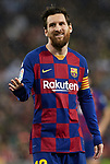 Lionel Messi of FC Barcelona during La Liga football match between Real Madrid and FC  Barcelona played at the Santiago Bernabeu Stadium in Madrid, on March 1th 2020