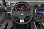 Steering wheel view of a 2009 Volkswagen Jetta TDI