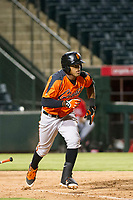AZL Giants center fielder Heliot Ramos (31) bats during a game against the AZL Angels on July 9, 2017 at Diablo Stadium in Tempe, Arizona. AZL Giants defeated the AZL Angels 8-4. (Zachary Lucy/Four Seam Images)