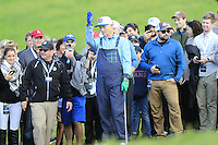 Actor Bill Murray in the rough on the 6th hole at Pebble Beach Golf Links during Saturday's Round 3 of the 2017 AT&amp;T Pebble Beach Pro-Am held over 3 courses, Pebble Beach, Spyglass Hill and Monterey Penninsula Country Club, Monterey, California, USA. 11th February 2017.<br /> Picture: Eoin Clarke | Golffile<br /> <br /> <br /> All photos usage must carry mandatory copyright credit (&copy; Golffile | Eoin Clarke)