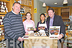 Listowel Foof Fair Winner: Leah Sweeny of Leah's Gourmet Foods, Litter Asdee, winner of the new emerging food products category at  Listowel Food Fair, pictured at Johns R's in Listowel demonstrating her gourmet black & White pudding L-R : Pierce Walsh, Aurelie Baylac, Adaois Food Distributors, Leah & Billy Sweeney.