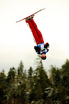 16 January 2005 - Lake Placid, New York, USA - Steve Omischl, representing Canada, competes in the FIS World Cup Aerial acrobatic competition taking Bronze in the Nature Valley Freestyle Cup at the MacKenzie-Intervale Ski Jumping Complex, in Lake Placid, NY. Omischl, a native of North Bay, Ontario, was last years' World Cup aerials champion...Mandatory Credit: Ed Wolfstein Photo.