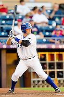 Nevin Ashley #38 of the Durham Bulls at bat against the Gwinnett Braves at Durham Bulls Athletic Park on July 27, 2011 in Durham, North Carolina.  The Bulls defeated the Braves 4-0.   (Brian Westerholt / Four Seam Images)