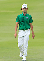 Kevin Na (USA) on the 12th during Round 3 of the CIMB Classic in the Kuala Lumpur Golf & Country Club on Saturday 1st November 2014.<br /> Picture:  Thos Caffrey / www.golffile.ie