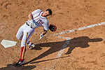 30 April 2017: Washington Nationals second baseman Daniel Murphy is brushed back by a pitch in the 7th inning against the New York Mets at Nationals Park in Washington, DC. The Nationals defeated the Mets 23-5, with the Nationals setting several individual and team records, in the third game of their weekend series. Mandatory Credit: Ed Wolfstein Photo *** RAW (NEF) Image File Available ***