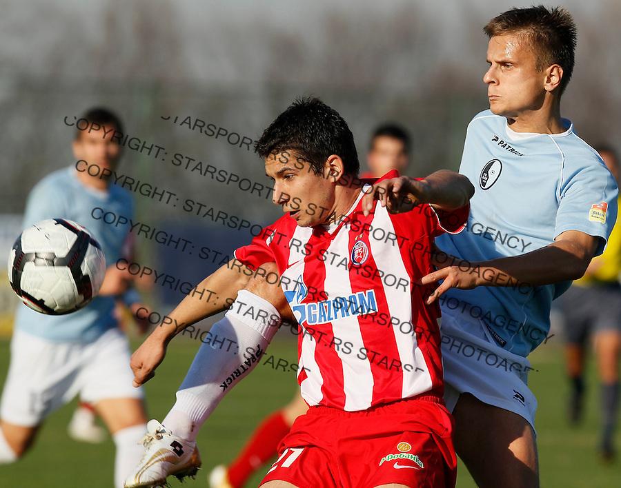 Fudbal, Jelen super liga, sezona 2010/11.Rad Vs. Crvena Zvezda.Aleksandar Jevtic, left.Belgrade, 14.11.2010..foto: Srdjan Stevanovic/Starsportphoto ©